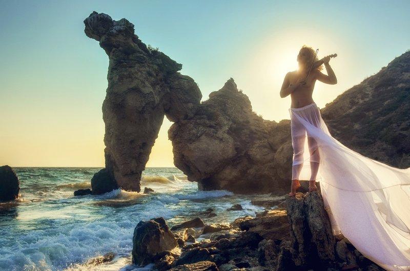 портрет, эротика, красота, модель, жанр, rekhov Утро в Крымуphoto preview