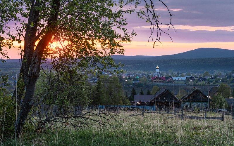 Утро уральской деревни.photo preview