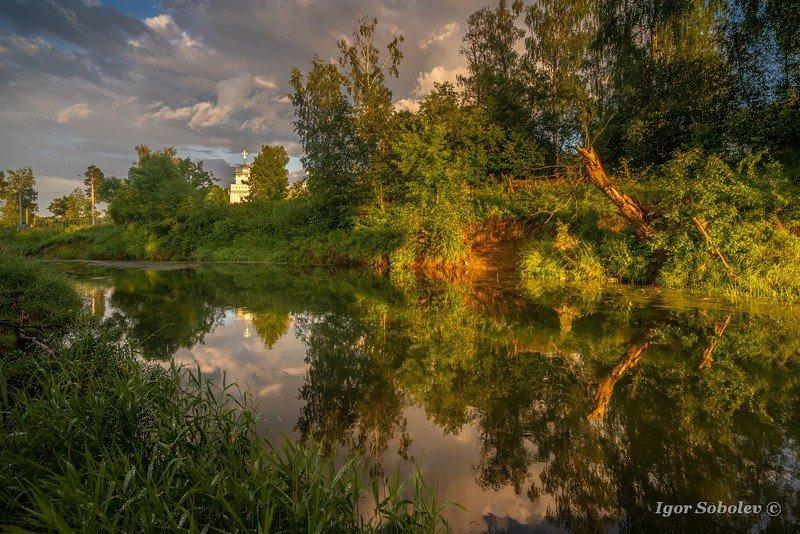 вечер, пейзаж, гефсиманский сад, истра, новоиерусалимский монастырь Вечер после дождяphoto preview