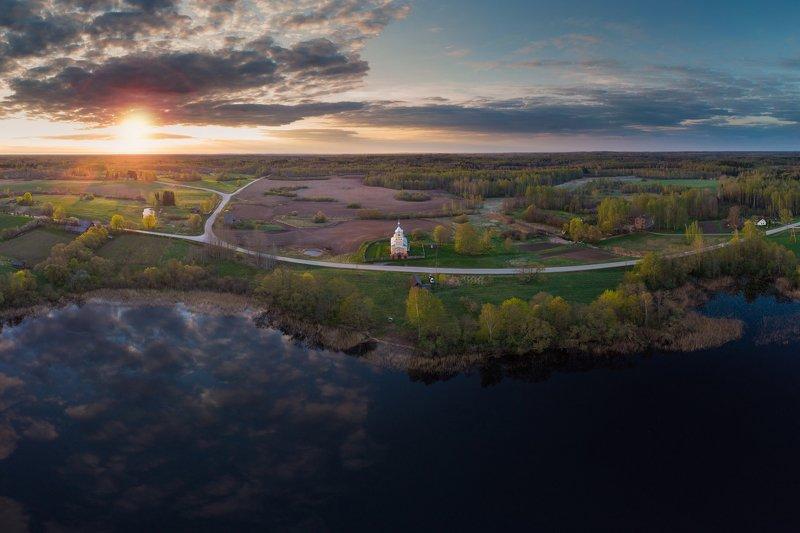 landscape,sunrise,drone,sun,lake,nature,aero Lauderiphoto preview
