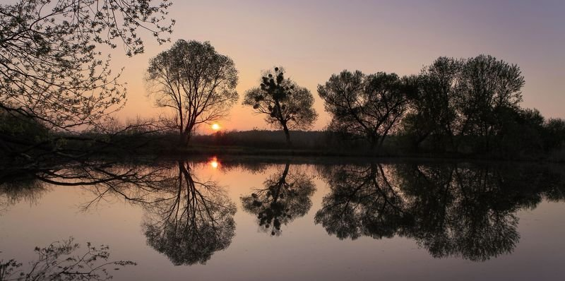 Гармония весеннего закатаphoto preview