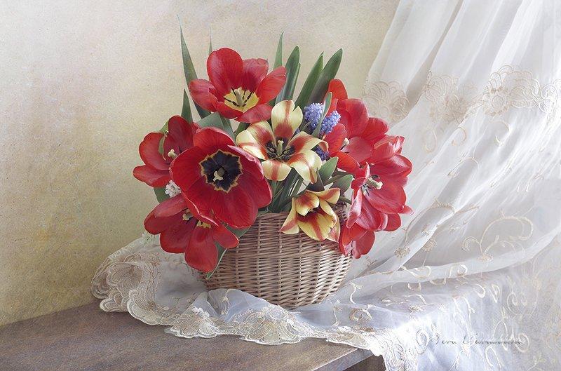 натюрморт,тюльпаны,весна,вера павлухина, Букет тюльпановphoto preview