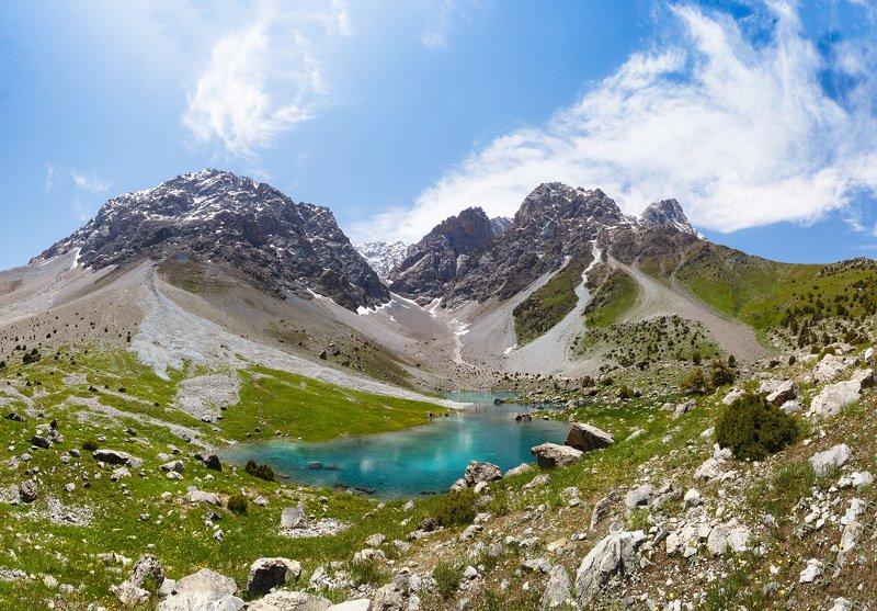 горное, горы, озеро, Таджикистан, фаны Озеро Зиератphoto preview