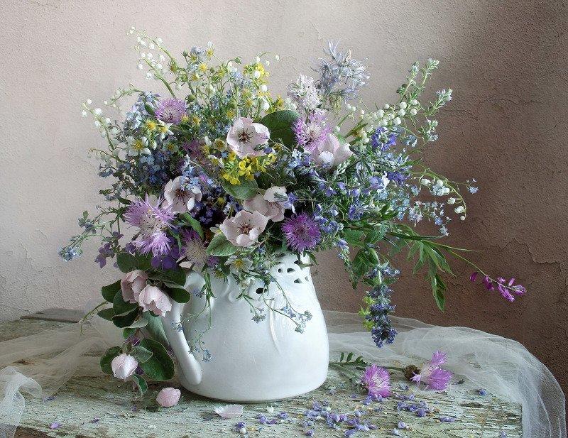 весна, натюрморт, букет цветов, незабудки, марина филатова ***photo preview