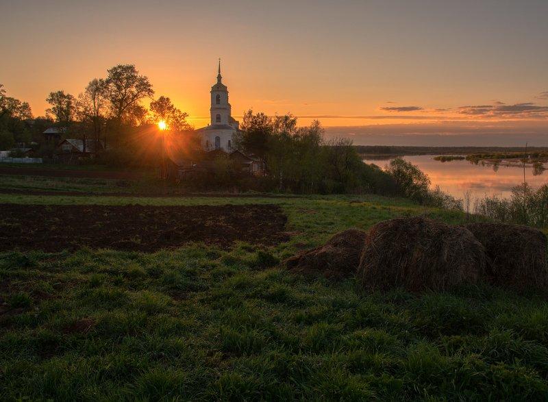 рассвет,село,природа,Вятка,Россия Золотой рассветphoto preview