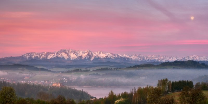 tatra mountains, mountains, landscape, pieniny Pink morningphoto preview