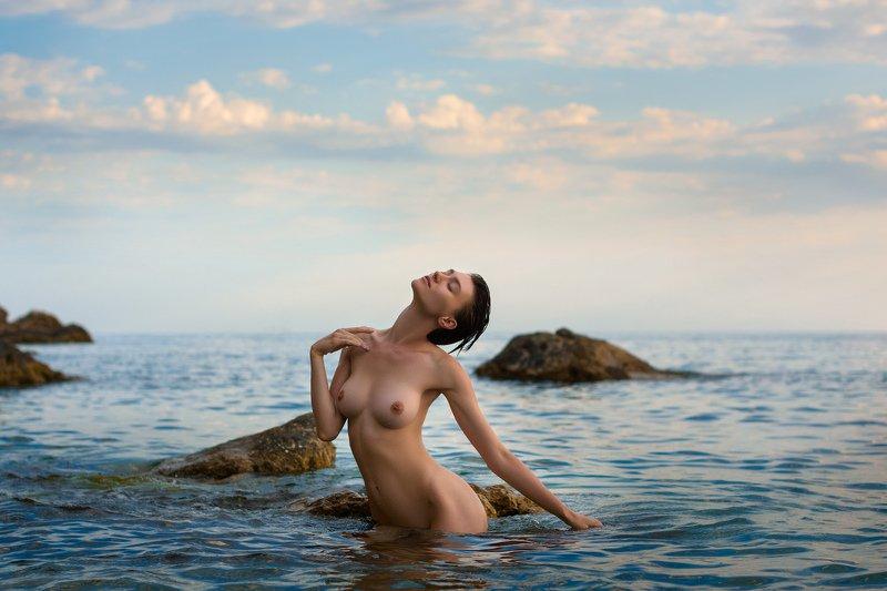nude,model,девушка,модель,ню,море \