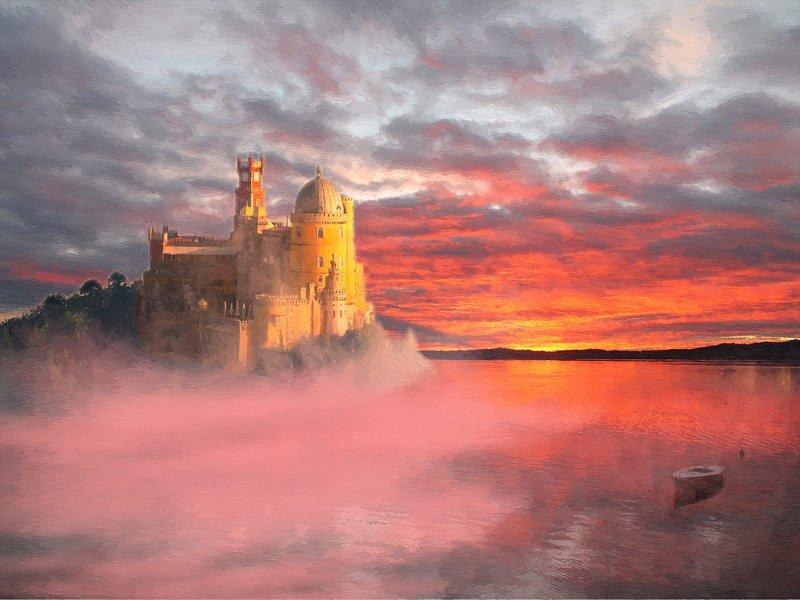 digital art замок в туманеphoto preview