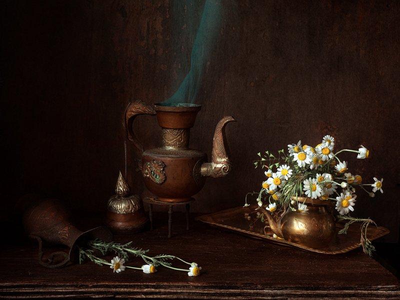 Чай с ромашками.photo preview
