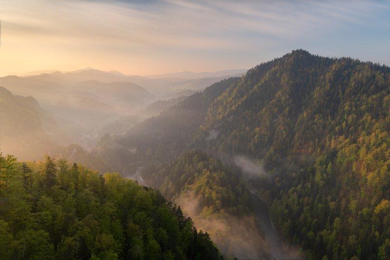 pieniny, polska, poland, sokolica, mountains, light, morning, sunrise, Sunrise on Sokolica (Pieniny mountains)photo preview
