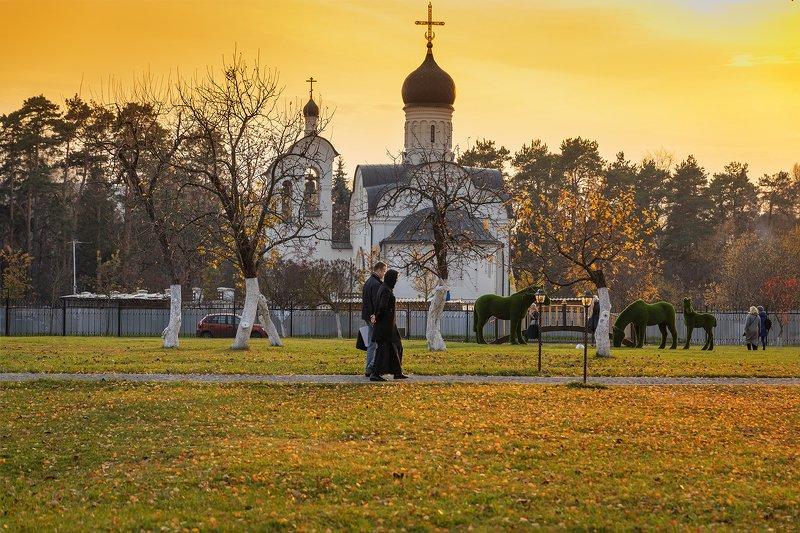 вечер; переделкино; православие; храм; церковь; осень;  Вечер в Переделкиноphoto preview