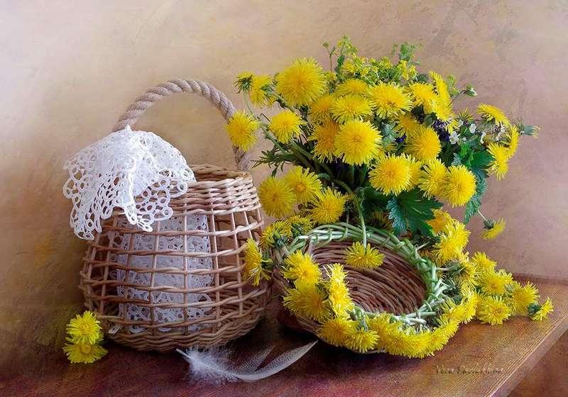 натюрморт,весна,одуванчики,вера павлухина, Натюрморт с одуванчиками.photo preview