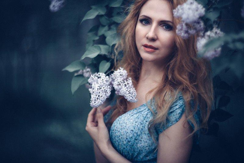 девушка, портрет,  рыжие волосы, гелиос, весна, боке Екатеринаphoto preview
