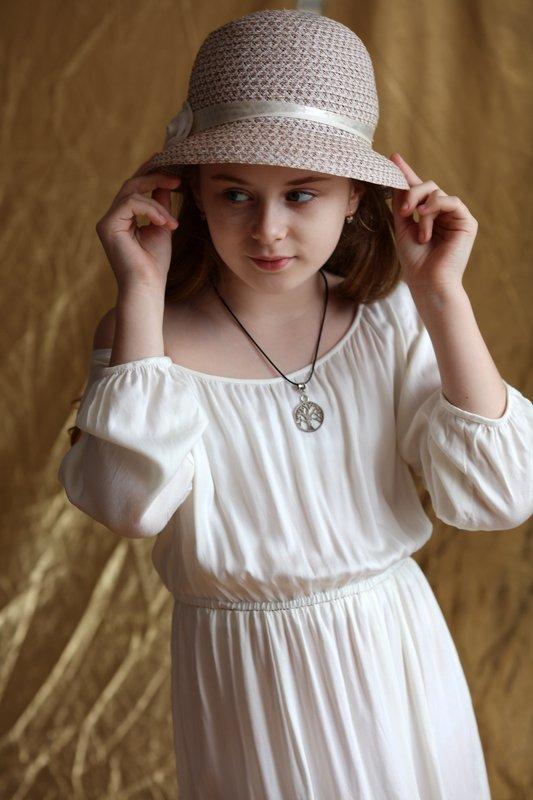 девочка, портрет, шляпка, красота, ребёнок, portrait, girl, beauty, Маргаритаphoto preview
