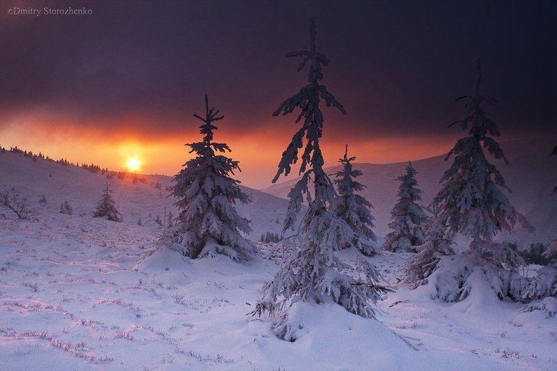 Закат в горах Карпатахphoto preview