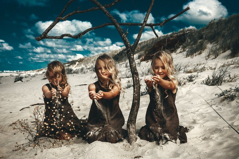 children, portrait, art, beach, outdoors Daughters of the Sandphoto preview