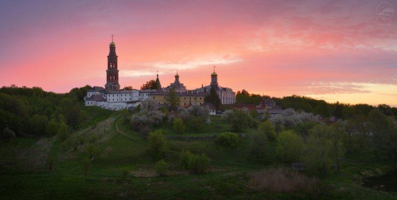 пейзаж, панорама, монастырь, май, весна Майское утроphoto preview