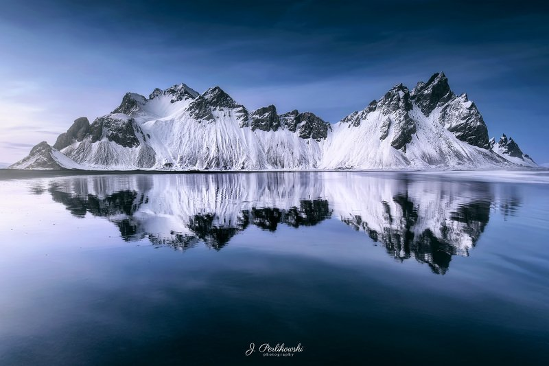 iceland, mountain, mountains, winter, winter is coming, snow, mirror, stokksnes Iceland mirrorphoto preview