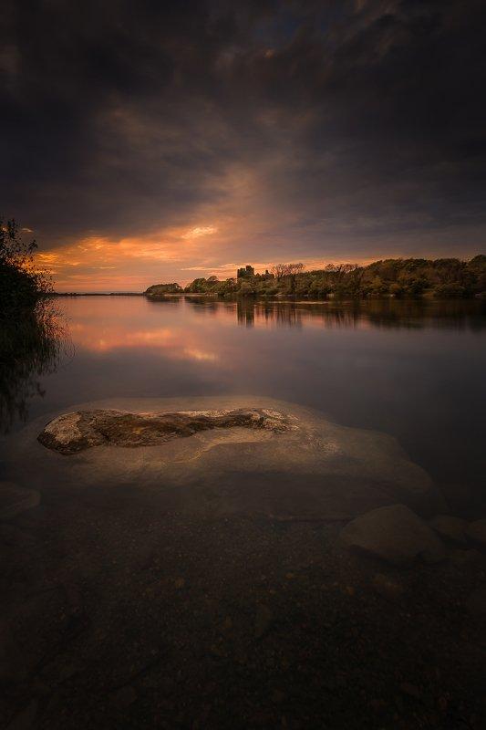 ireland, galway, sunrise, sunset, landscapes,  Menlo Castle photo preview