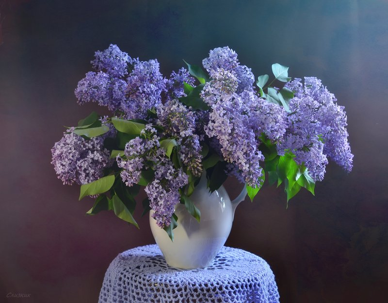 натюрморт,композиция,свет,весна,сирень,букет Сирени гроздья душистые..photo preview