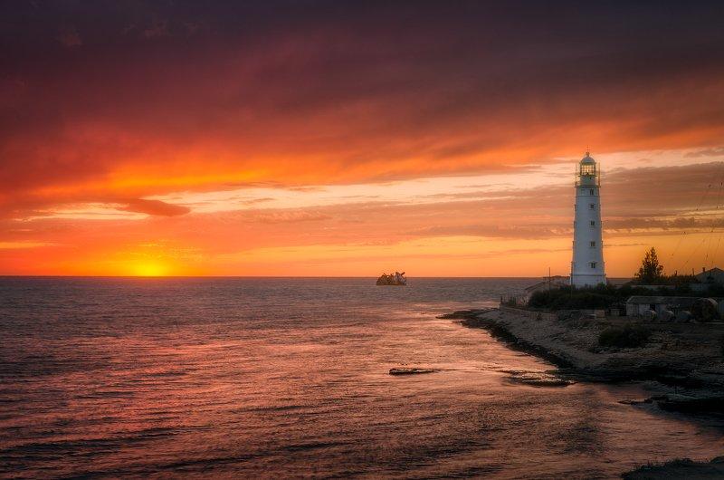 маяк, крым Тарханкутский маякphoto preview