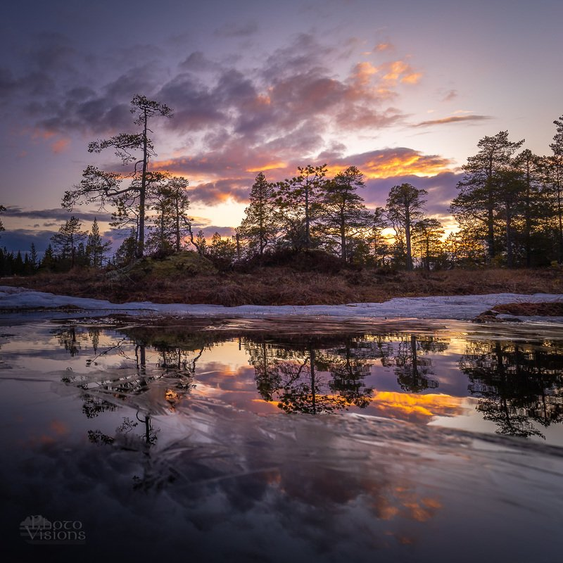 sunset,boreal,norway,norwegian,scandinavia,forest,woodland,sky, Another end of another day...photo preview