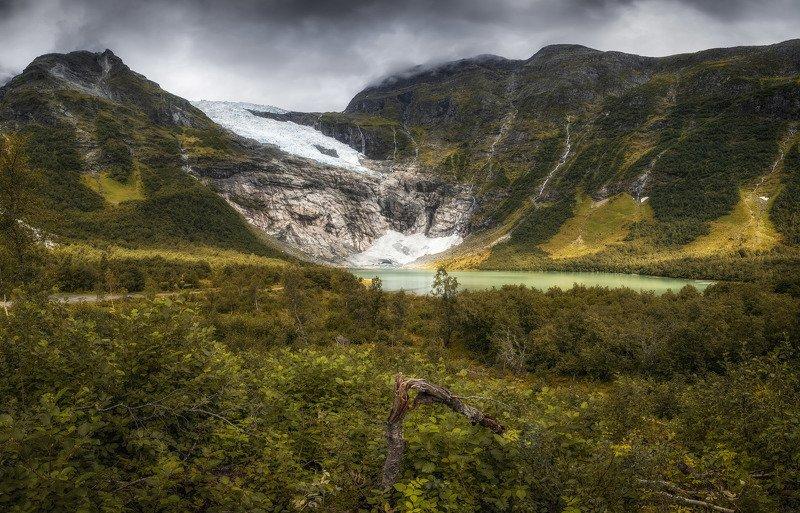 водопад, горы, ледник в дебряхphoto preview