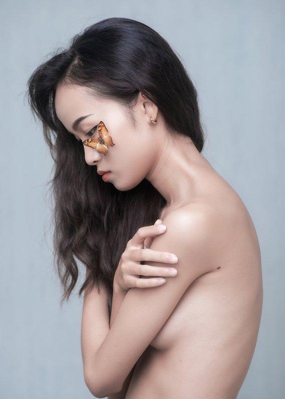 portrait, female, woman, girl, asian, vietnam, vietnamese, young, face, studio, mood, mood portrait photo preview