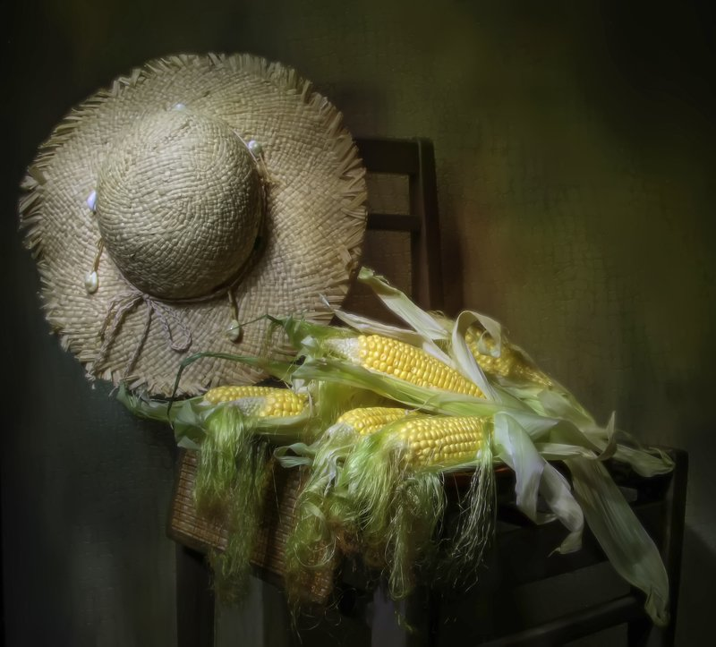 натюрморт, кукуруза, шляпка Кукурузка... фото превью