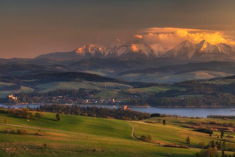 tatry, nature, landscape, mountains, poland, sunset, colors, light, lake, castle Tatryphoto preview