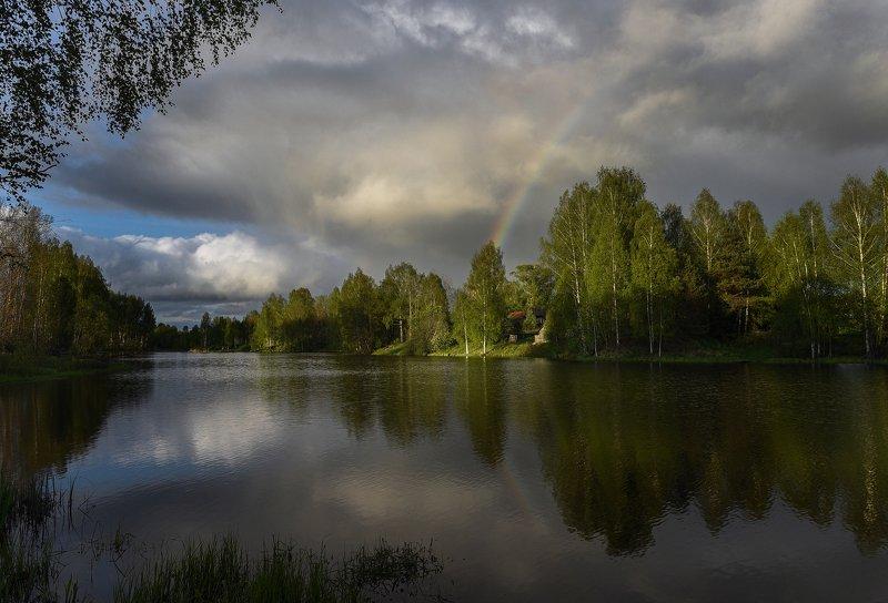 радуга, пейзаж, россия Радугаphoto preview