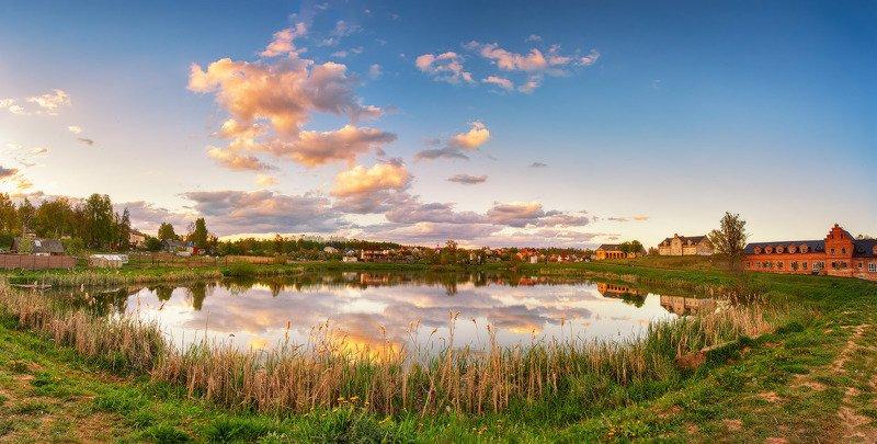 беларусь, весна, вечер, закат, май, минск и окрестности, озеро Вечер в Прилукахphoto preview