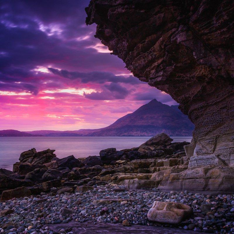 skye,scotland,isleofskye,scottish,highlands,sunset,sea,nature,rocks, Elgol, Skyephoto preview