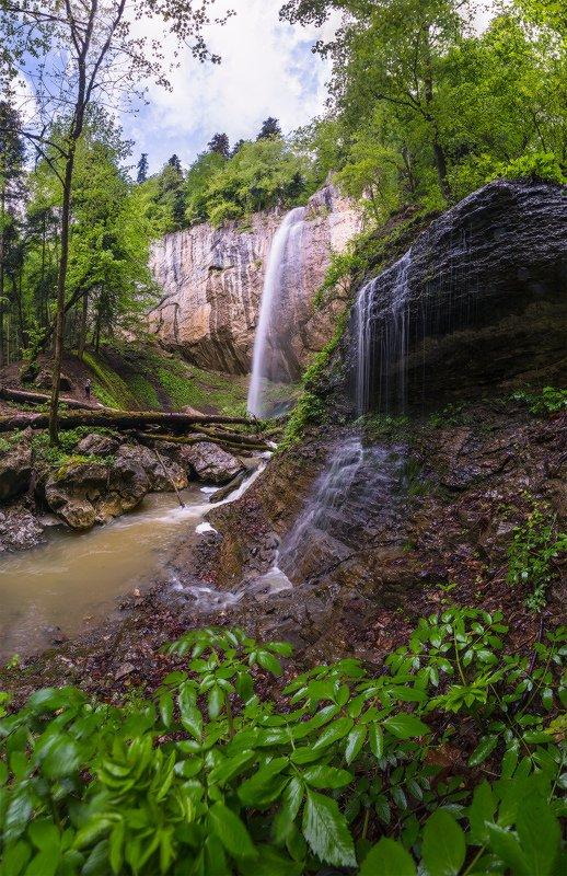 северный кавказ,никитино, ручей капустина, водопад, май В окресеностях Никитиноphoto preview