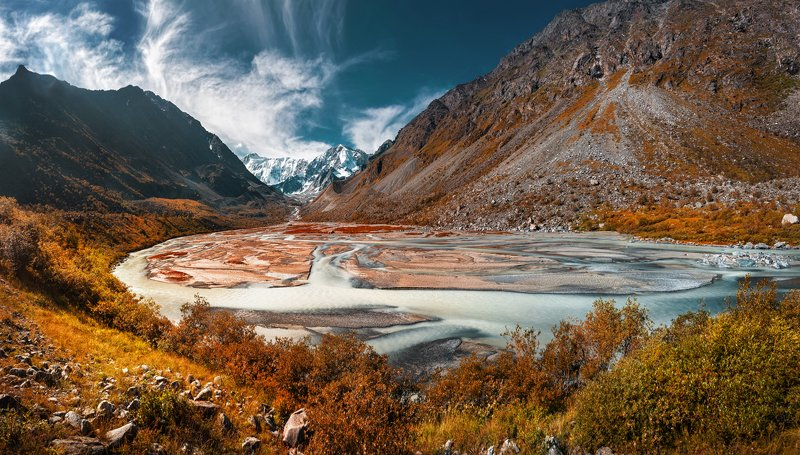 алтай, аккем, озеро, горы, алтайские горы, гора бехуха, млечный путь Гора Белухаphoto preview