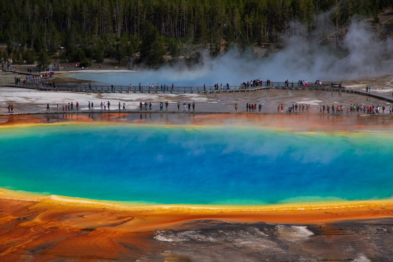 grand prismatic spring,Yellowstone National Park, nature grand prismatic springphoto preview