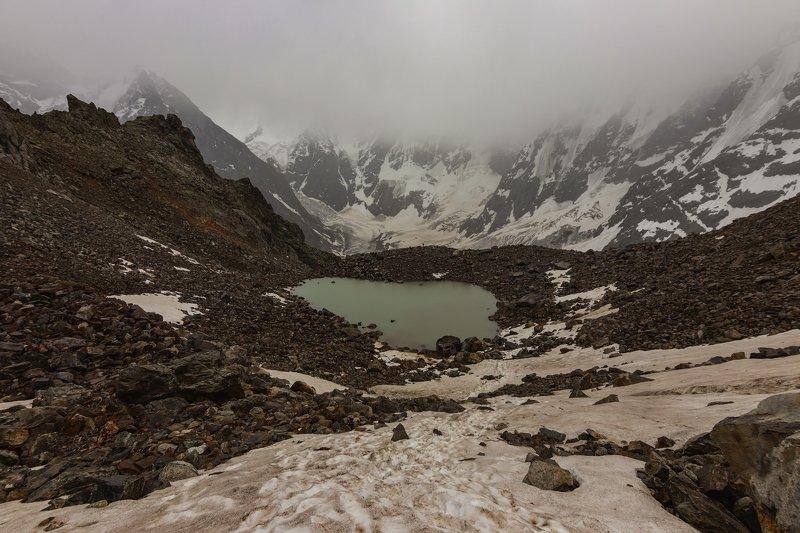 горы, альпинизм, кавказ, ледники в окружении вершин...photo preview