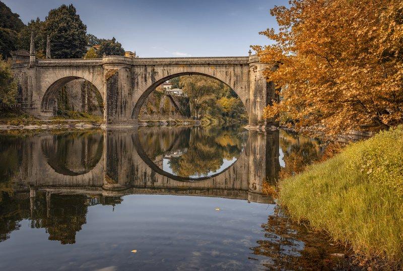 отражение, мост, река мост2photo preview