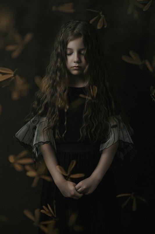 девочка портрет кудри волосы girl portrait hair flowers цветы Margaritaphoto preview
