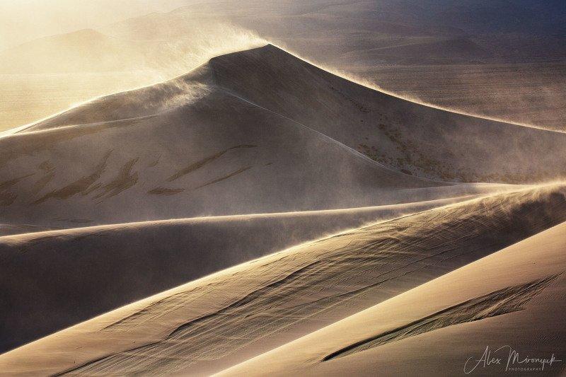Пустыня, дюны, песок, свет, тень, абстракция, паттерн, узор, фото-тур, США, Америка,  Песчаный Штормphoto preview
