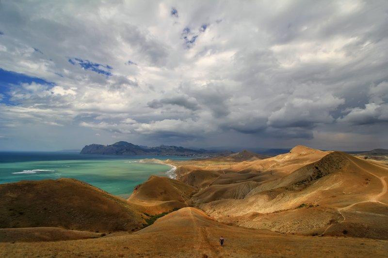 пейзаж, крым море, черное Киммерия... фото превью