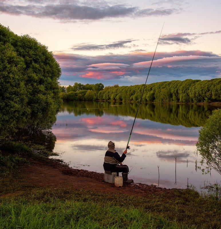 закат,рыбалка,пруд,небо Вечерняя рыбалкаphoto preview
