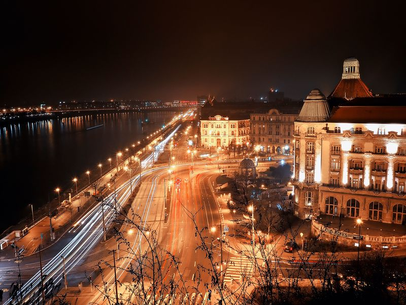 hungary, night, budapest, danube, nightphotography, photography, lights, city, cityscape, nightlife, cityscape, streets Night in Budapestphoto preview