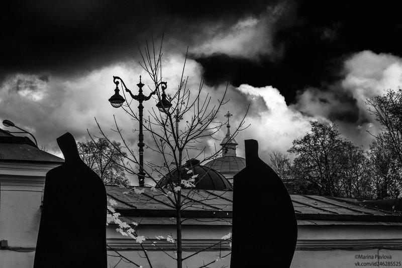 город, петербург, музей городской скульптуры, чёрно-белое фото,чб фото Пандемия...photo preview