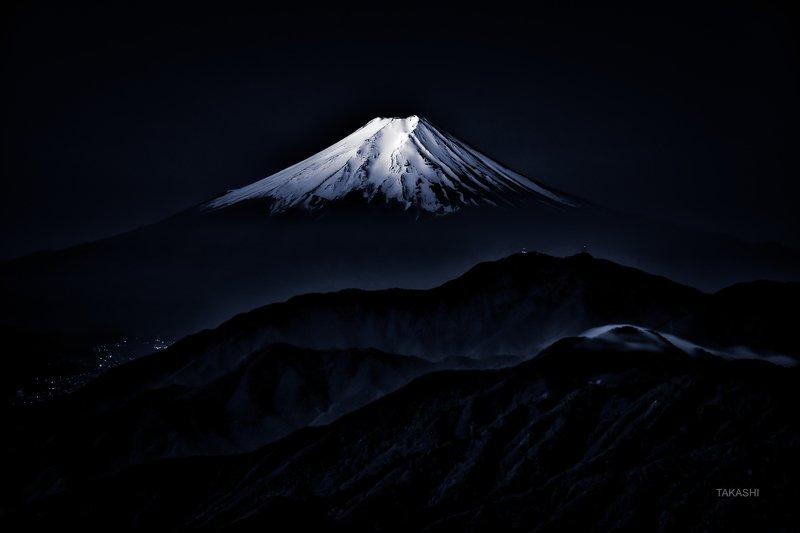 Fuji,Japan,mountain,summit,snow,amazing,blue ink, wonderful Shining snowphoto preview