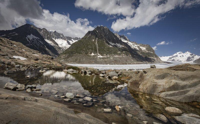 горы, ледник, озеро в озерцеphoto preview