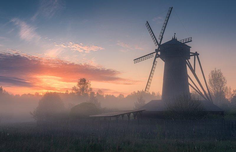 истра, мельница, весна, пейзаж, рассвет Рассвет у мельницыphoto preview