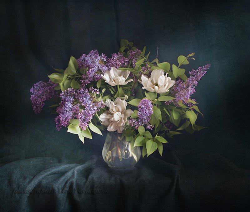 натюрморт,цветы,весна,вера павлухина,полночь. Летней ночью .photo preview