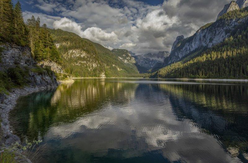 озеро, горы озерноеphoto preview