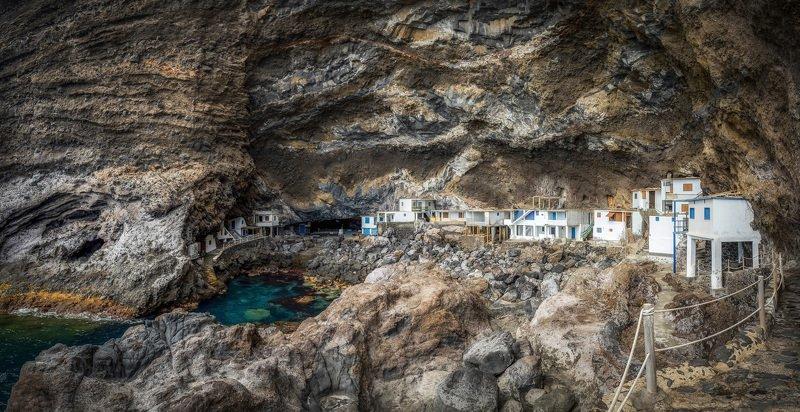 скалы, океан, пещера рыбацкий городокphoto preview